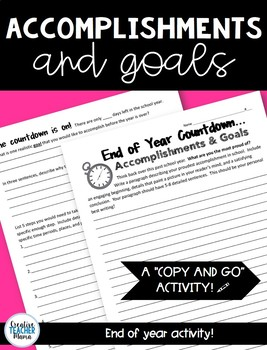 Goals and Accomplishments: End of Year Writing