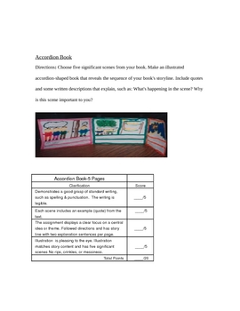 Accordian Book Rubric