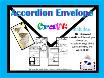 Accordion Envelope CRAFT book!  Great for beginning or through the year craft!