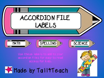 Accordion File Labels/Labels for Notebooks