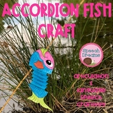Accordion Fish Speech Therapy Craft {language & articulation}