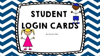 Account Login Cards for Students