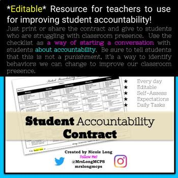Accountability Contract for Students!