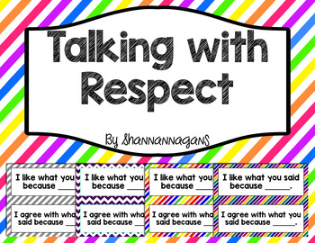 Talking with Respect Printable Decor | Speak with accountability
