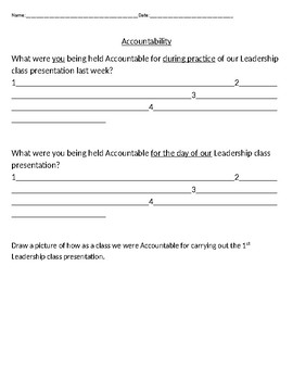 Accountability reflection worksheet