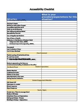Accountabilty Checklist - Editable in Excel