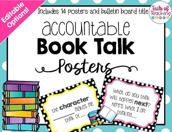 Accountable Book Talk Posters