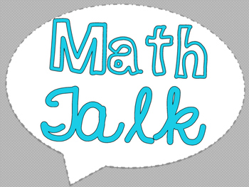 "Accountable Common Core ""Math Talk"" Reference Posters {Aqua}"