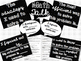 """Accountable Common Core """"Math Talk"""" Reference Posters {Black & White}"""