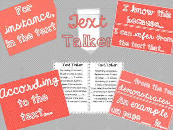 "Accountable Common Core ""Textual Evidence"" Writing Reference Posters"