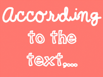 """Accountable Common Core """"Textual Evidence"""" Writing Reference Posters"""