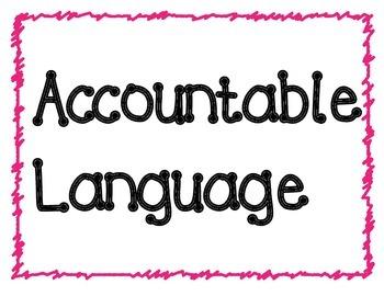 Accountable Language Posters