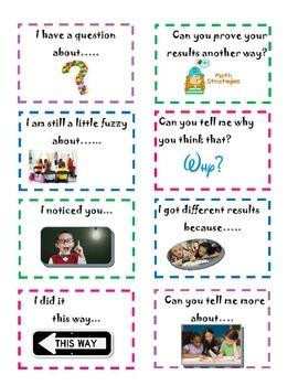 Accountable Math Talk Cards