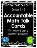 Accountable Math Talk Cards (Monster Themed)