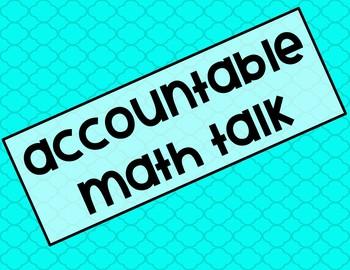 Accountable Math Talk Poster Set (Editable)