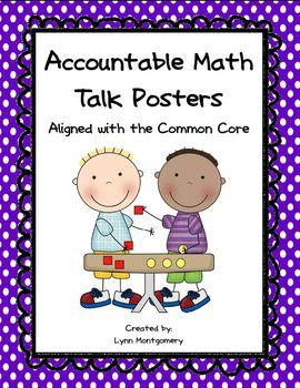 Accountable Math Talk Posters