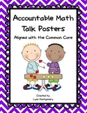 Accountable Math Talk Posters - Chevron