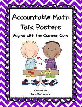 Accountable Math Talk Posters - Chevron