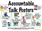 Accountable Math Talk Questions Posters - Common Core SMPs