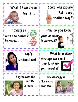 Accountable Talk with Questions & Conversation Stems - Commom Core SMPs