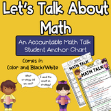 Accountable Math Talk Student Anchor Chart
