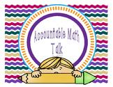 Accountable Math Talk for Math Wall -