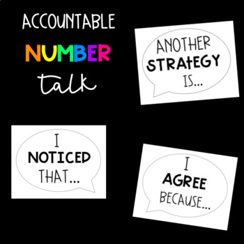 Accountable Number Talk Bulletin Board Kit