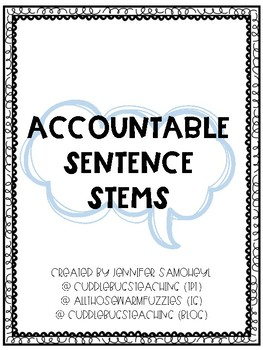 Accountable Sentence Stems