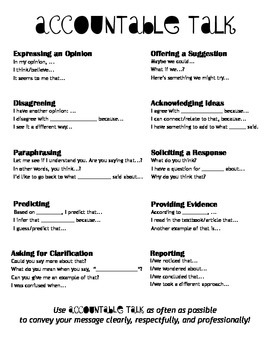 Accountable Talk 1-pager