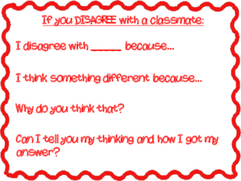Accountable Talk Agree and Disagree Posters