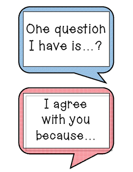 Accountable Talk - Anchor Chart - Classroom Discussions - Bookmarks