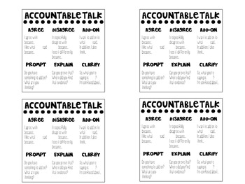 Accountable Talk Anchor Chart and Desk Plate Set