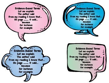 Accountable Talk Anchor Chart/Task Cards/Bookmark - Common Core Aligned