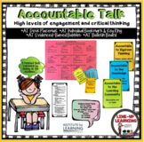 Accountable Talk Anchor Chart/Task Cards - Common Core Aligned