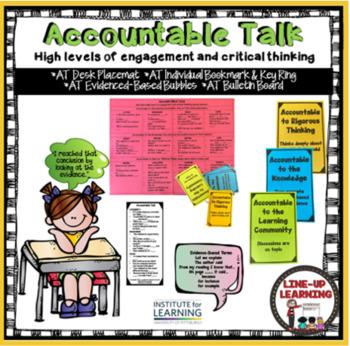 Accountable Talk Anchor Chart/Task Cards/Bookmark - Common