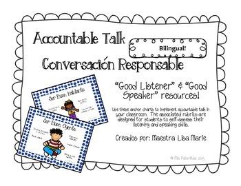 Good Listener & Speaker for accountable talk **Bilingüe!**