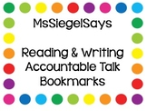Accountable Talk Bookmark (Reading & Math)