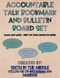 Accountable Talk Bookmark and Bulletin Board Set