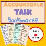 Accountable Talk Bookmarks!