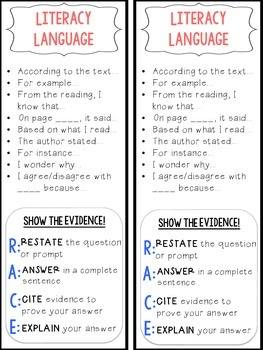 Accountable Talk Bookmarks