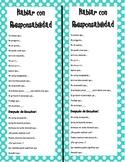 Accountable Talk Bookmarks-Spanish