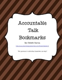 Accountable Talk Bookmarks Striped Background