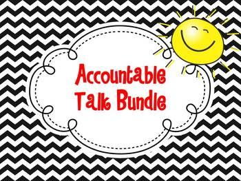 Accountable Talk Bundle {Chevron Design}