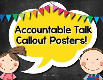 Accountable Talk Callout Posters