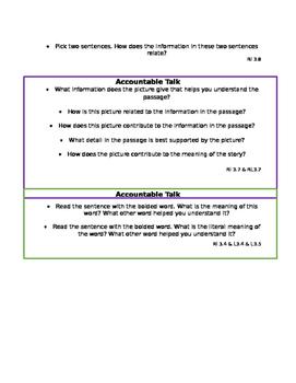 Accountable Talk Cards- 3rd Grade