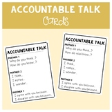 Accountable Talk Cards (Partner & Guided Reading)