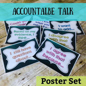 Accountable Talk Chalkboard Posters