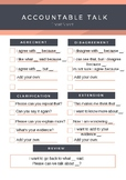 Accountable Talk Cheat Sheet for ELLs