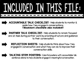 Accountable Talk Checklists