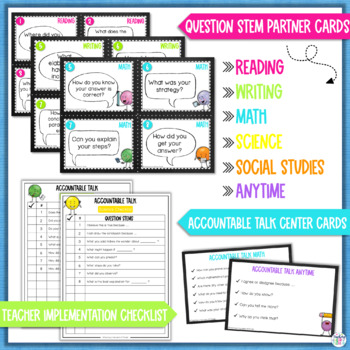 Accountable Talk Stems Classroom Resource Bundle